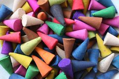 Incense cones. Is colorful, relax and fragrant Royalty Free Stock Photos