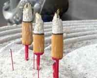 Incense furnace with smoking joss stick Royalty Free Stock Image