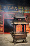 Incense holder in Chinese temple Stock Photo
