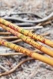 Incense i bastoni che bruciano in un altare ad un tempio del taoista, Pechino, Cina Fotografie Stock Libere da Diritti