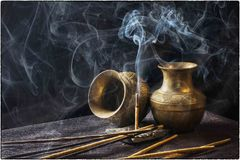 Incense, Indian, Aromatic, Stick Stock Image