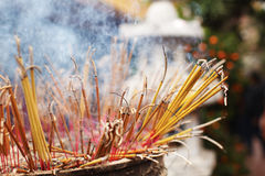 Incense joss sticks at the temple in Asia Stock Photos