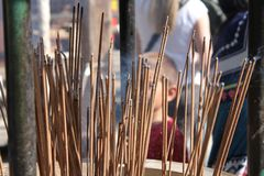 Incense in Kyoto Shrine Royalty Free Stock Image