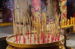 Incense is lit Royalty Free Stock Photography