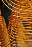 Incense los espirales, templo del iam de Kun, macau. fotos de archivo