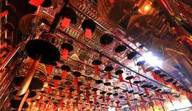 Incense in Man Mo Temple. Hong Kong Stock Image