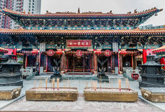Incense offerings Sik Sik Yuen Wong Tai Sin Temple Kowloon Hong Royalty Free Stock Photo