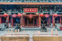 Incense offerings Temple Kowloon Hong Royalty Free Stock Images