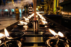 Incense and oil candle Royalty Free Stock Image