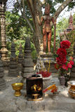 Incense and other offerings at  Phnom Kulen Royalty Free Stock Photos