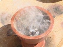 Incense in the pot in Oman market. Incense in the pot. Taken in market of Nizva city in Oman Stock Image