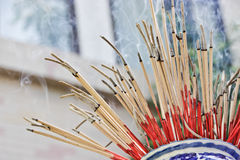 Incense pot. Incense to worship God and Incense to worship the Buddha Royalty Free Stock Images