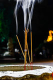 Incense with Rising Smoke. Stock Images