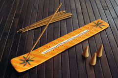 Incense set Stock Image