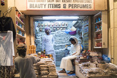 Incense shop in Oman. Incense seller in old suk of Muscat, Oman Royalty Free Stock Images