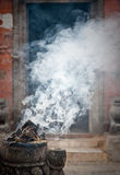 Incense smoke Royalty Free Stock Image