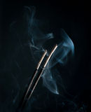 Incense with smoke Stock Photography