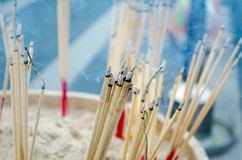 Incense with smoke Royalty Free Stock Image