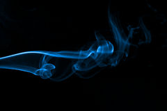 Incense Smoke Abstract - Blue Stock Photo