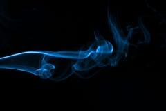 Incense Smoke Abstract - Blue stock photo