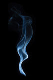 Incense smoke on a black background. White smoke on a black background Stock Photos