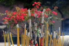 Incense smoke Royalty Free Stock Photos