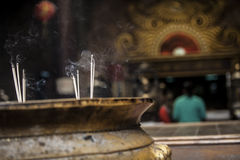 Incense smoke Royalty Free Stock Images