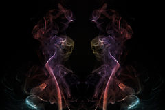 Incense Smoke Ghoul. Ghostly face rendition of patterns caused by incense smoke Royalty Free Stock Photography