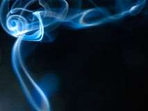 Incense smoke swirling. At the top stock photography