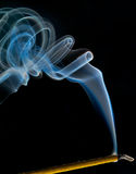 Incense smoke trails Stock Images
