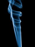 Incense smoke trails. Colorized incense smoke trails on a black background stock photography
