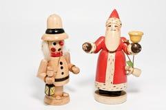 Incense smoker and santa claus. On white Stock Photo