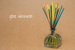 Incense spa , incense sticks dipped in a aroma essential oils Royalty Free Stock Photos