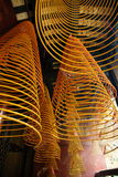 Incense spirals, Kun iam temple, macau. Incense spirals at the 17th century kun iam chinese temple, macau peninsula Royalty Free Stock Photo