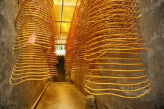 Incense spirals, Kun Iam temple, macau. Incense spirals at kun iam chinese temple, macau peninsula stock photography