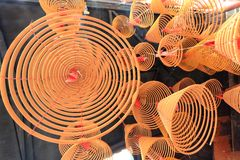 Incense, spirals, A-Ma temple, Macau. Royalty Free Stock Photography