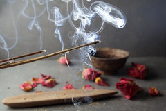 Incense stick. Aromatherapy Stock Photography