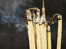 Incense stick. On black background , Thailand stock image