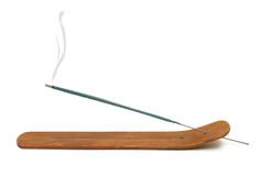 Incense Stick Burning. An isolated shot of an aromatic incense burning stock photos
