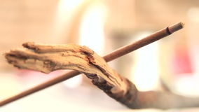 Incense Stick Burning 04 stock video
