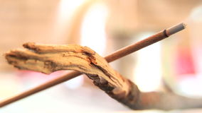 Incense Stick Burning 05 stock video