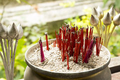 Incense stick and lotus Royalty Free Stock Image
