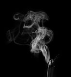Incense Stick. With Smoke on Black Background Royalty Free Stock Photography