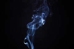 Incense stick smoke isolated Royalty Free Stock Image