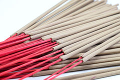 Incense stick on white background isolated Royalty Free Stock Images