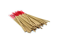 Incense stick on white background isolated Stock Photo