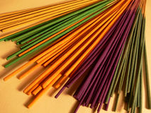 Incense sticks. In various colours Royalty Free Stock Photo