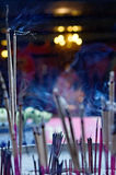 Incense sticks. In temple Royalty Free Stock Image