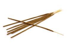 Incense sticks. Oriental aromatic incense sticks isolated on white Stock Photo