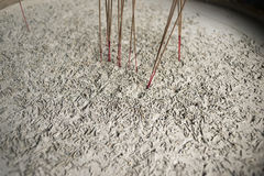 Incense sticks ashes Royalty Free Stock Image
